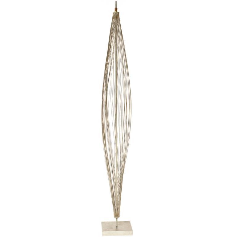 "Important 1950s Harry Bertoia ""Design of Wire Form"" Pod Sculpture"