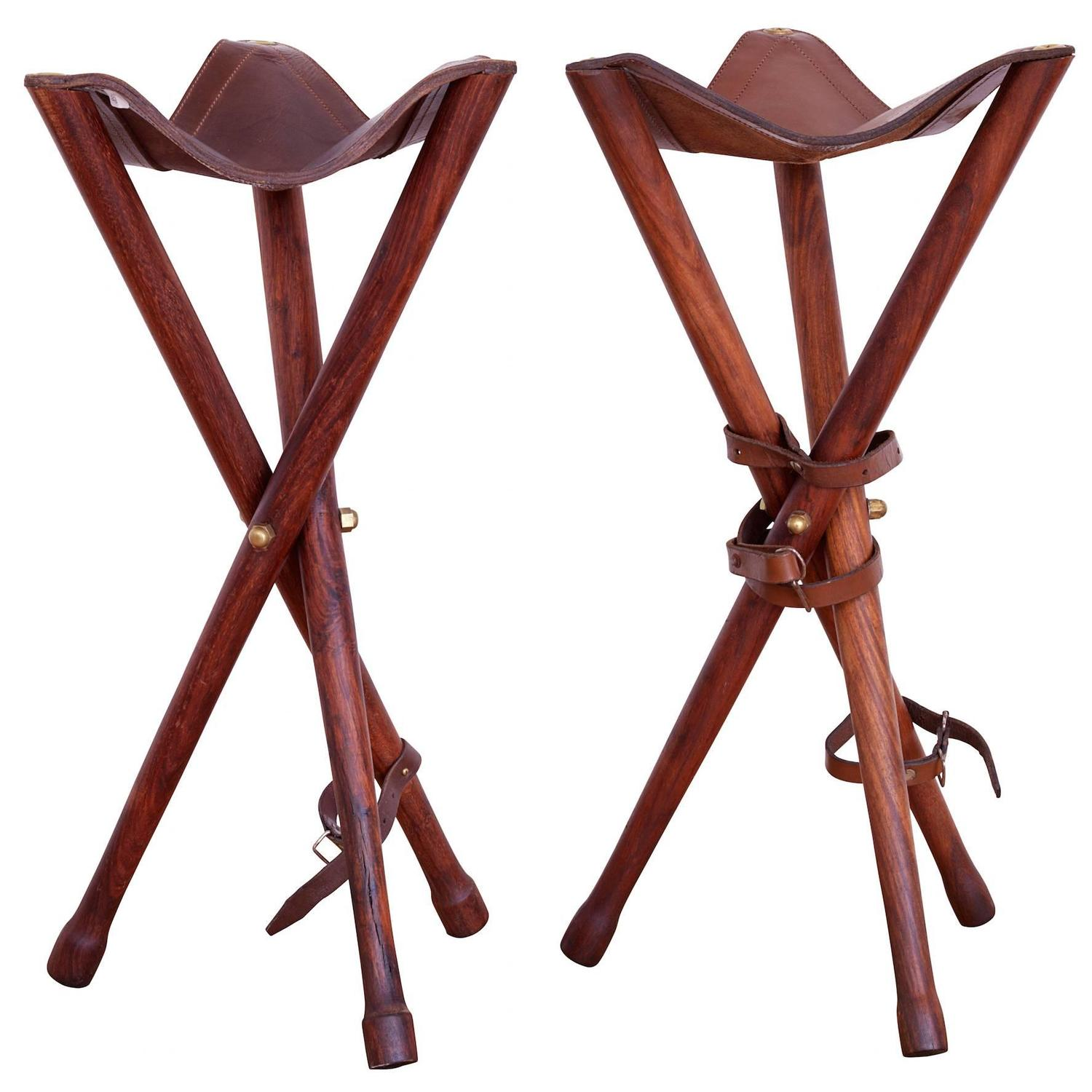 Pair Of Hunting Chairs At 1stdibs