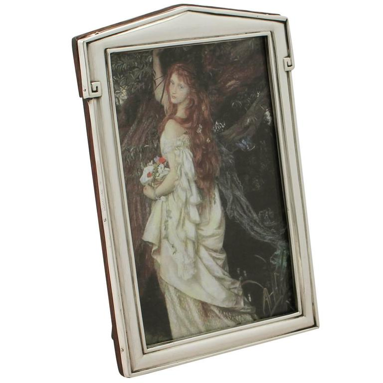 Sterling Silver Photograph Frame - Art Deco Style - Antique George V