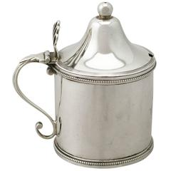 Antique George III Sterling Silver Mustard Pot by Peter and Ann Bateman