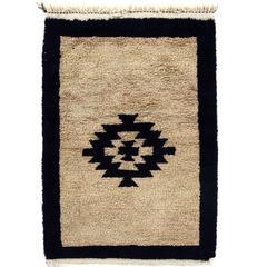 Vintage Minimalist Anatolian Tulu Rug
