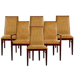 Set of Six Walnut Dining Chairs by Dillingham