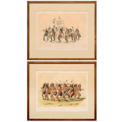 George Catlin, Hand-Colored Lithographs from the North American Indian Portfolio