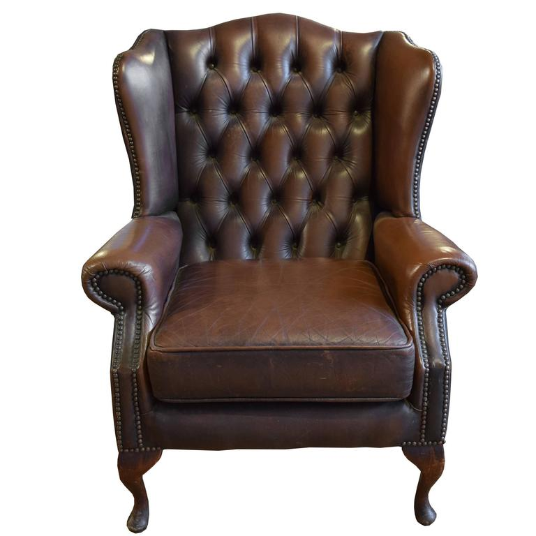 Leather wingback recliner chair for sale for Leather wingback recliner sale