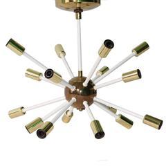 Mid-Century Sixteen-Light 'Atomic' Sputnik Chandelier