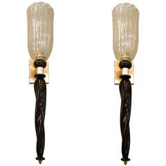 Pair of Barovier Murano Sconces