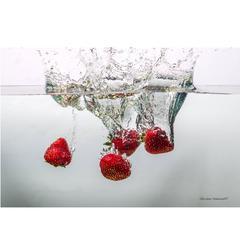Strawberry Splash Photograph