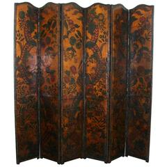 17th Century Leather Screen