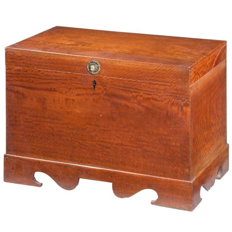 Mid-19th Century Teak Rectangular Lidded Box