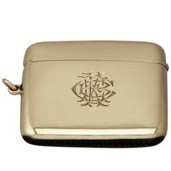 9ct Yellow Gold Vesta Case - Antique Victorian