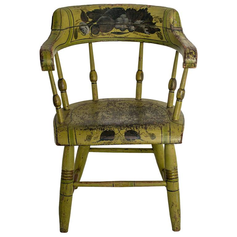 Apple Green Painted Child 39 S Chair At 1stdibs