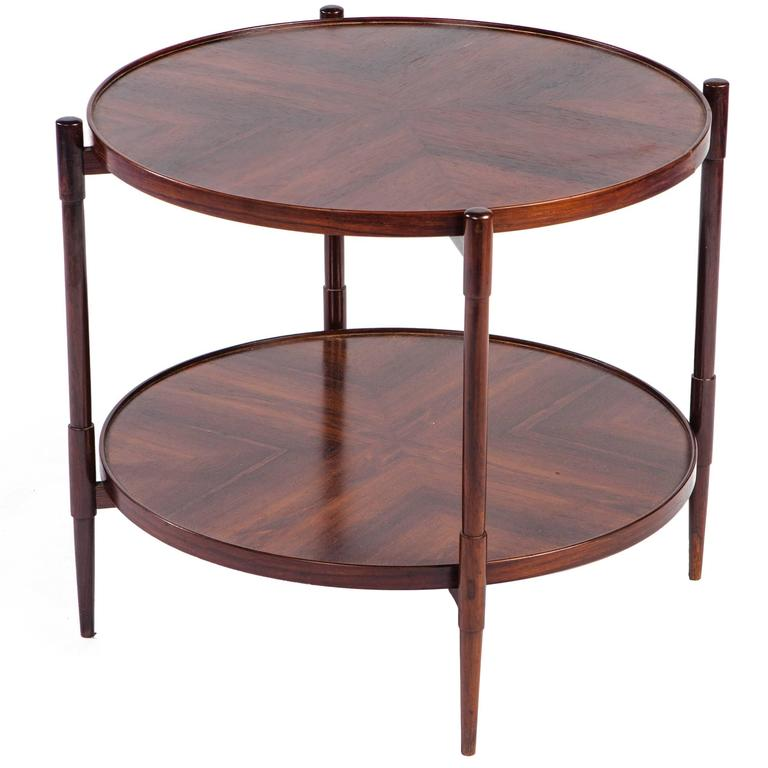 Mid-Century Modern Rosewood Side Table by Joaquim Tenreiro For Sale