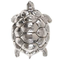 Sterling Silver Turtle Silver Box by Lisi Brothers