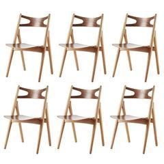 "Hans J. Wegner, ""Sawbuck"", Set of six Chairs, Model CH-29"