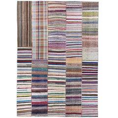 Oversize Vintage Rag Rug. Cotton Carpet Floor Covering. Custom Options Available