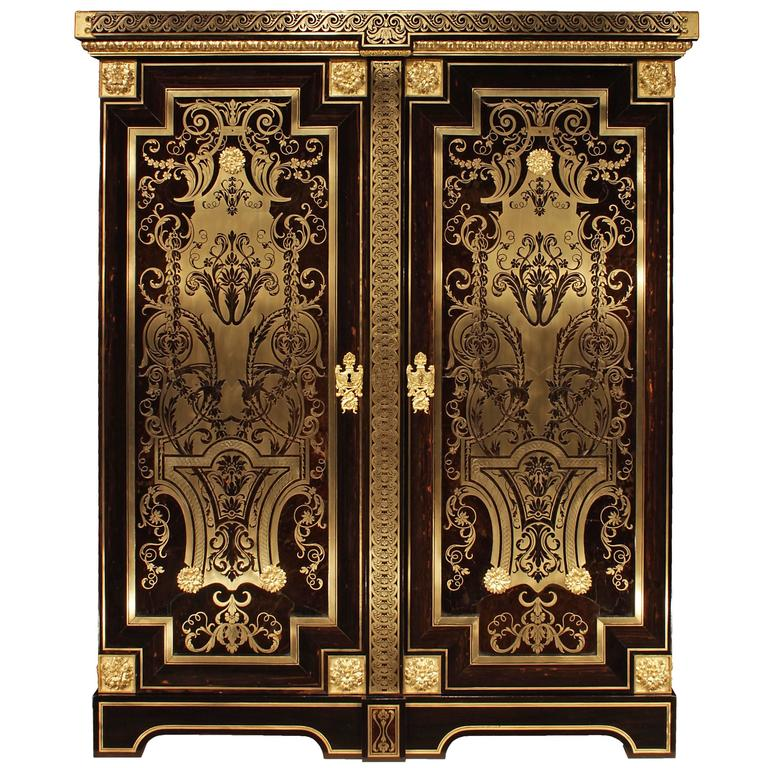 French 19th Century Louis XIV Style Boulle Cabinet For Sale
