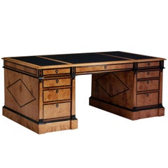 Pedestal Desk in the Biedermeier manner
