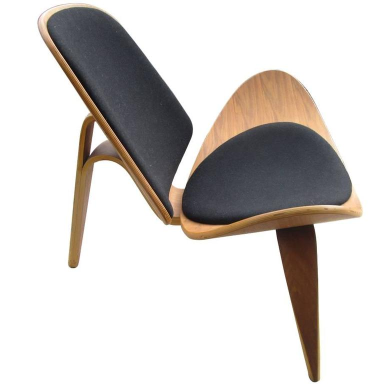 Vintage Midcentury Hans Wegner Skalstol Shell Chair For Carl Hansen 1
