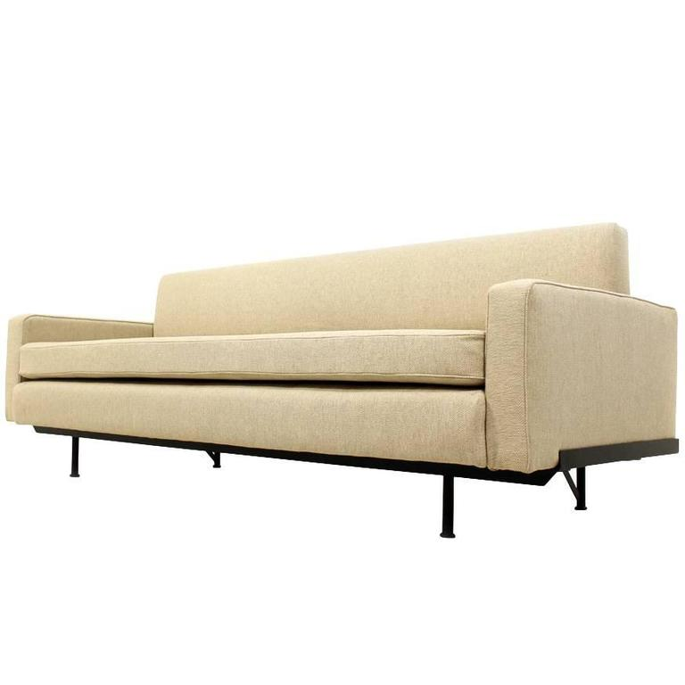 Florence Knoll Daybed Model 702 Midcentury Sofa Metal Frame 1958 For