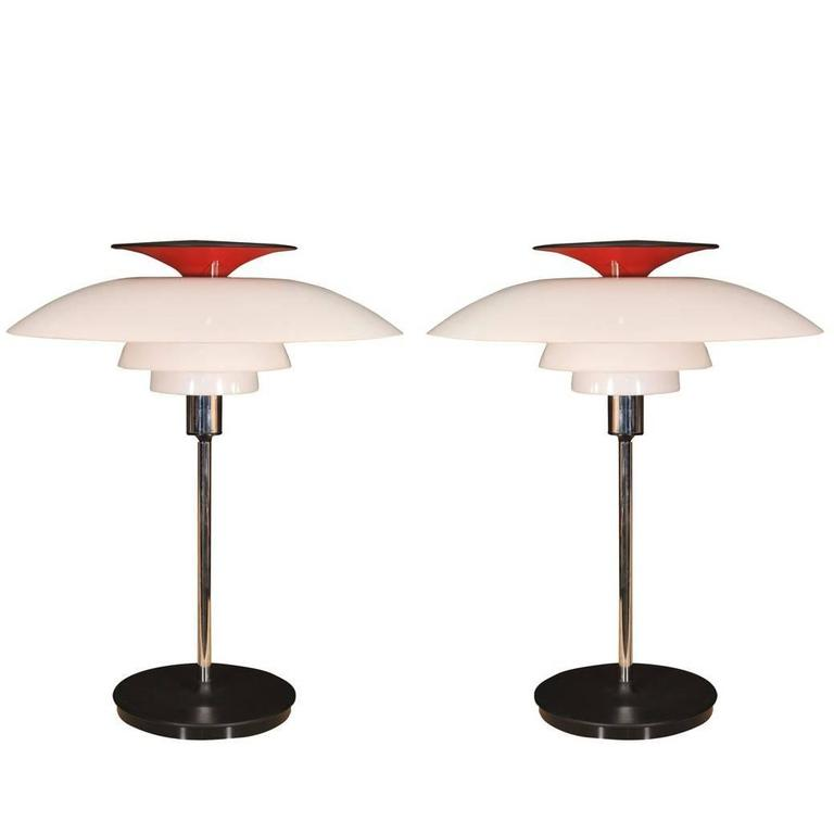 Pair of Table Lamps by Louis Poulsen For Sale