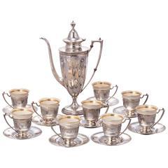 Sterling Coffee Demitasse Coffee Set