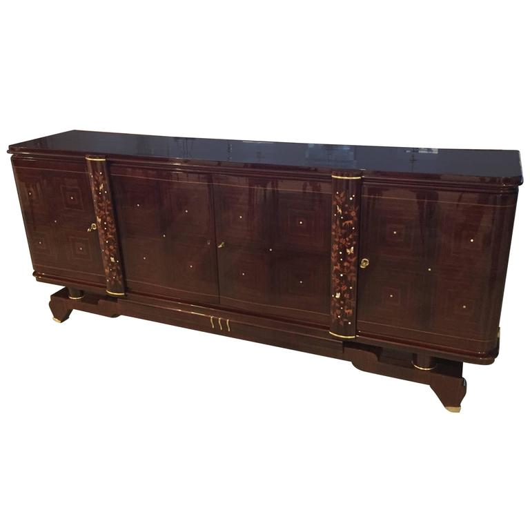 jules leleu style buffet french art deco 1920s for sale. Black Bedroom Furniture Sets. Home Design Ideas