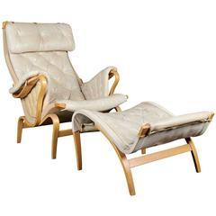 Bruno Mathsson Chair & Ottoman