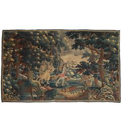 18th Century Aubusson Tapestry Featuring Diana, Goddess of the Hunt