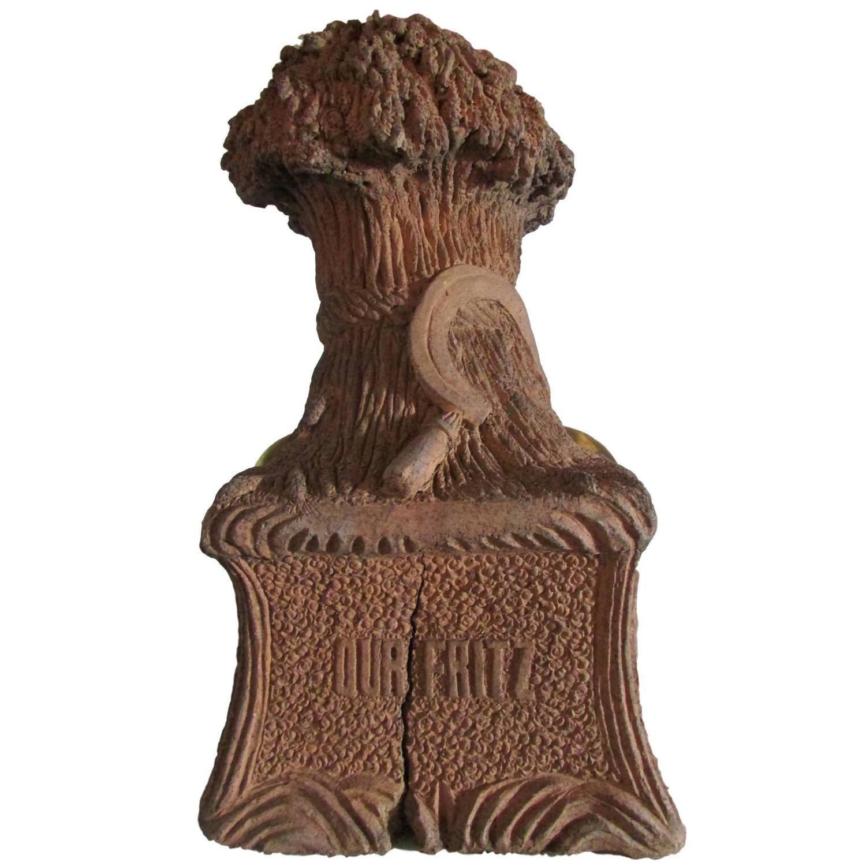 Our fritz folk art terracotta pet grave marker for sale