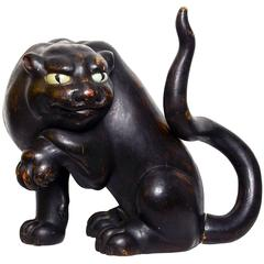 Antique Japanese Sculpture of a Tiger, 17th Century