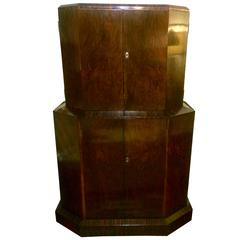 English Art Deco Cocktail Cabinet