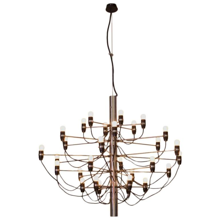 Early 2097/30 Chandelier by Gino Sarfatti for Arteluce