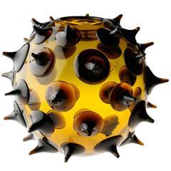 """21st Century Glass Sculpture """"Riccio"""" designed by Gae Aulenti for Venini"""