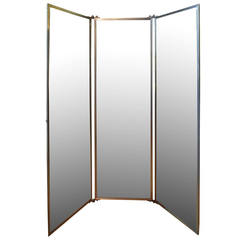 Tri Fold Dressing Room Mirror For