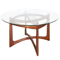 Adrian Pearsall Sculptural Base Dining Table with Glass Top for Craft Associates