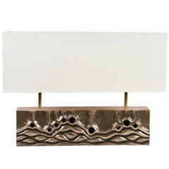 Bronze Lamp Designed by Régis Royant