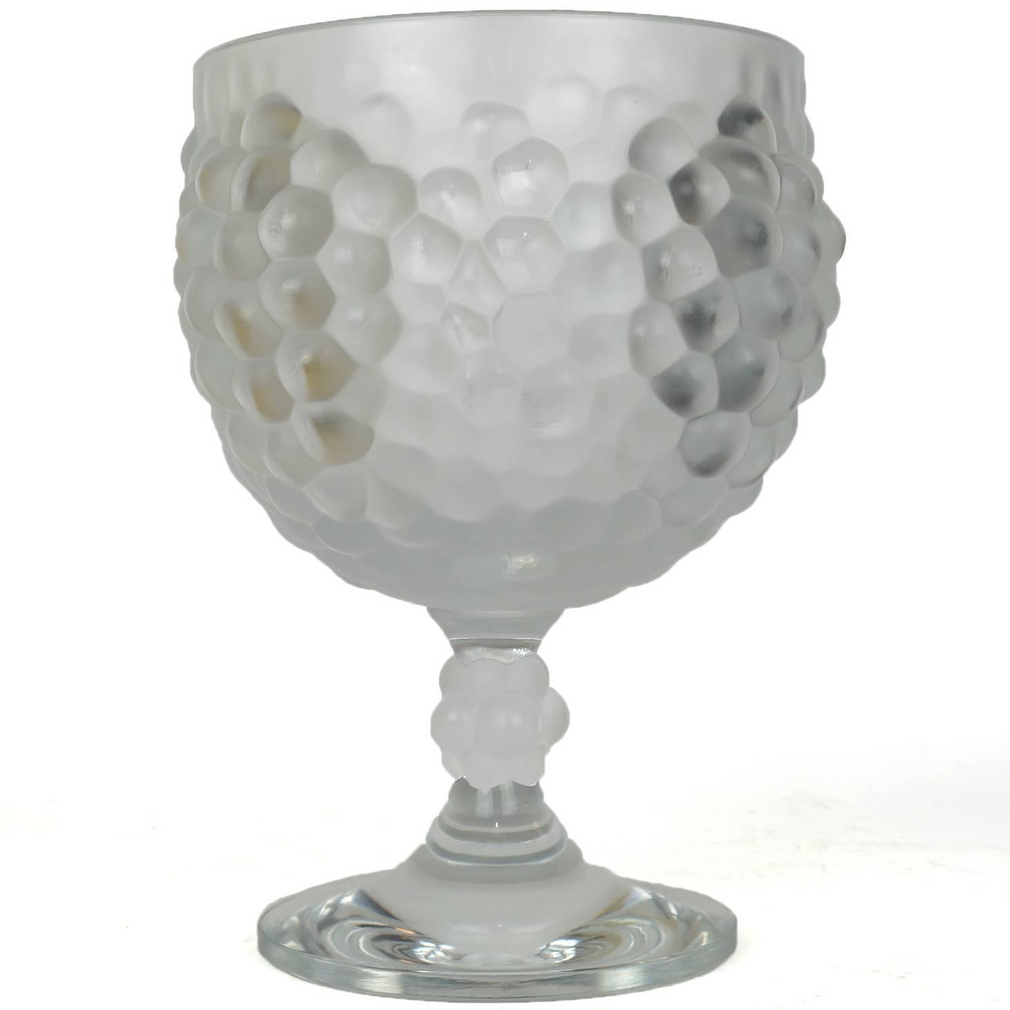 Lalique footed centerpiece bowl with raised grape decoration at 1stdibs - Footed bowl centerpiece ...