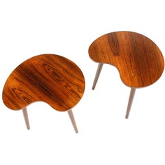 Pair of 1950s End Tables in Rosewood