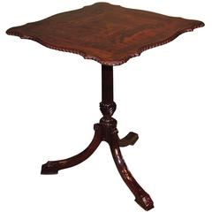 Mid-18th Century Chippendale Period Mahogany Tripod Table