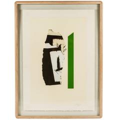 """""""In White with Green Stripe""""  Lithograph by Robert Motherwell"""