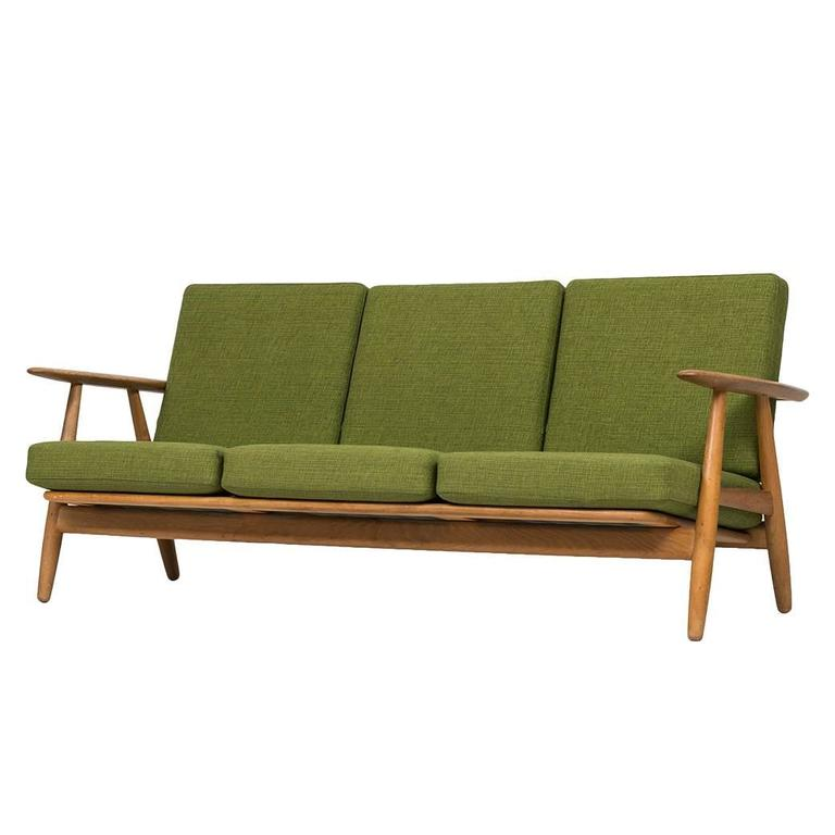 hans wegner sofa model ge 240 by getama in denmark for sale at 1stdibs. Black Bedroom Furniture Sets. Home Design Ideas