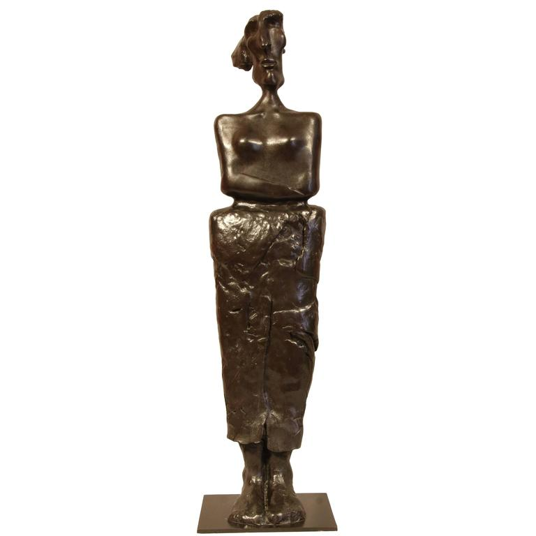 "Bronze Sculpture ""Chained Woman"" by the Artist Jacques Tenenhaus"