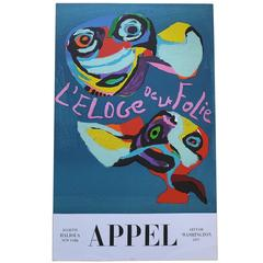 Karel Appel Litho Poster, Art Fair Washington