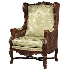Early 20th Century Mahogany Framed Bergere Chair