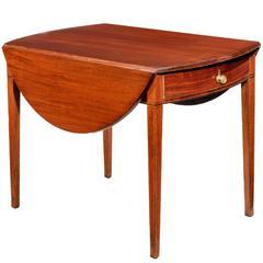 George III Mahogany Oval Pembroke Table