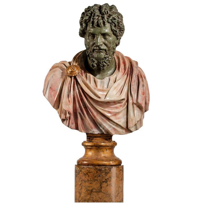 Bust of a Roman Emperor Septimus Severus
