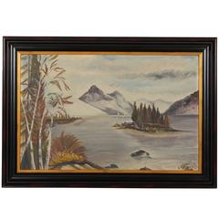 Painting of Landscape with Mountains