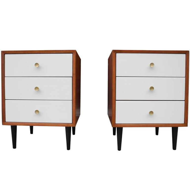 Pair Of Morris Sanders For Mengel Module Nightstands At 1stdibs