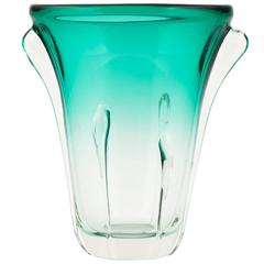 Murano Ombré Teal Glass Vase