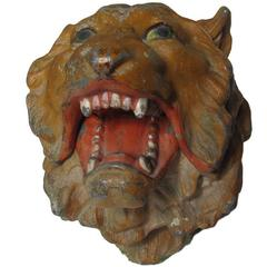 Turn of the Century Figural Lion Inkwell